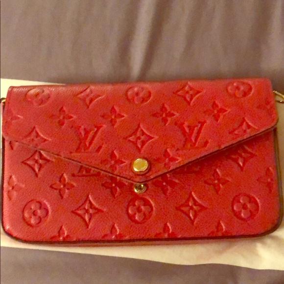 Louis Vuitton Bags Original Red Small Purse Poshmark
